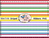Follower Freebie Striped Satin Ribbons (Digital Ribbons fo