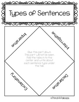 Follower Thank You Freebie: Sentence Types Foldables Bundle