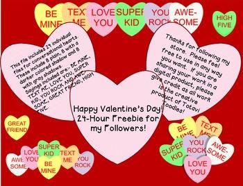 Followers Freebie * Conversation Hearts * Valentine's Day