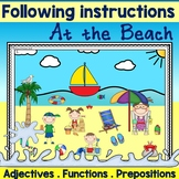 Following Directions using a beach theme