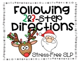 Following 2 & 3-Step Directions: Christmas