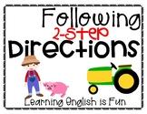 Following 2-Step Directions (Farm)
