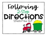 Following 2-Step Directions- Vehicles!