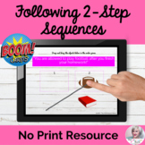 Following 2-Step Sequences BOOM CARDS™ NO PRINT Teletherapy