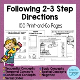 Following 2 Step and 3 Step Directions for Speech Therapy