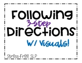 Following 3-Step Directions with Visuals!