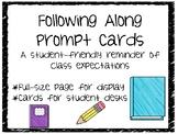 Following Along Reminder Cards