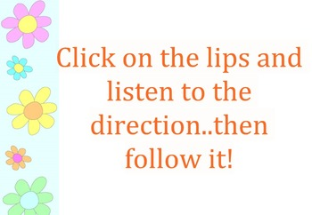 Following Auditory Directions Spring Theme