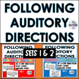 Following Auditory Directions Task Cards Combo: Sets 1 and 2