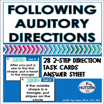 Following Auditory Directions Task Cards: Set 2