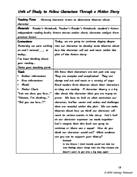 Following Characters--A Reading Unit of Study