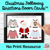 Following Directions BOOM Cards™ Christmas No Print Speech Therapy