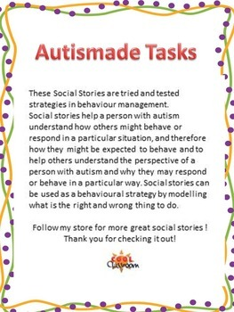Social Story - Class rules for kids with Autism