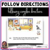 Following Complex Directions BOOM cards for speech therapy
