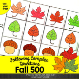 Following Complex Directions FALL 500 #nov2018slpmusthave