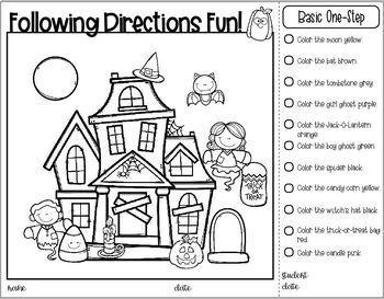 Following Direction Fun - Halloween Edition!