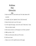 Following Direction Visual for Executive Functioning