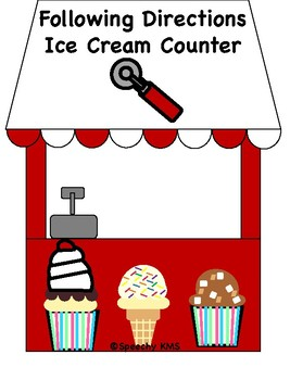 Following Directions (1, 2, or 3 steps) Ice Cream Counter Companion