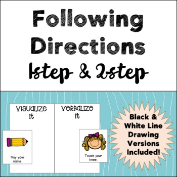 following directions 1 2 step directions tpt. Black Bedroom Furniture Sets. Home Design Ideas