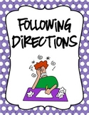 Following Directions
