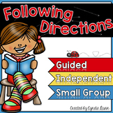Following Directions Activities