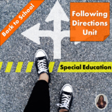 Following Directions Unit : Back to School for Special Education
