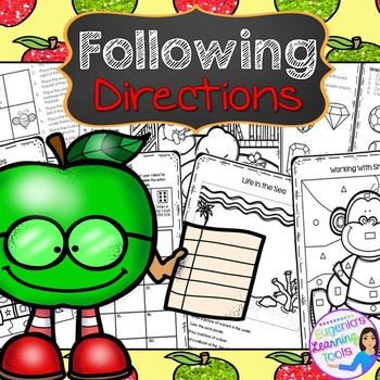 Following Directions Ready to Print Practice Worksheets