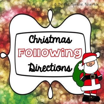 Following Directions | Speech Therapy Christmas