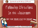 Following Directions in the classroom