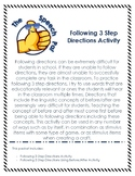 Following Directions - 3 step
