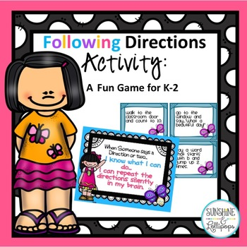 Following Directions Activity A Fun Game for K-2