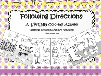 Following Directions: A Spring Coloring activity