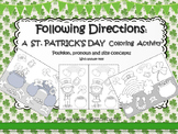 Following Directions: A St. Patrick's Day Coloring Activity