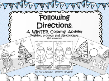 Following Directions: A Winter Coloring Activity