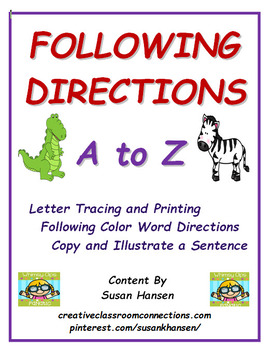 Following Directions: A to Z
