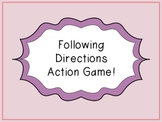 Following Directions Action Game