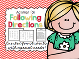 Following Directions Activities for Students with Special Needs