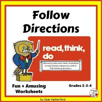 Follow Directions | Practice | FUN | Writing | Drawing | E