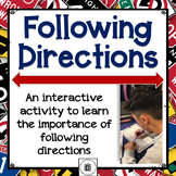 Following Directions Activity - Social Distancing