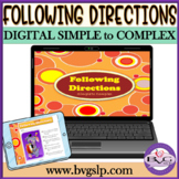 Following Directions Activity - Simple to Complex Teletherapy