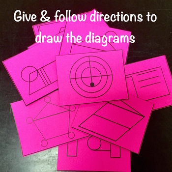 Following Directions Activity with Shapes