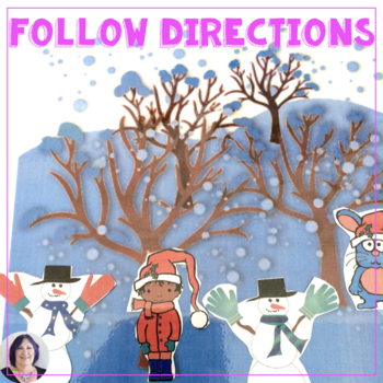 Following Directions All Through the Winter for speech therapy special education