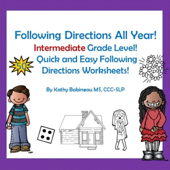 Following Directions All Year Intermediate Grade Level!