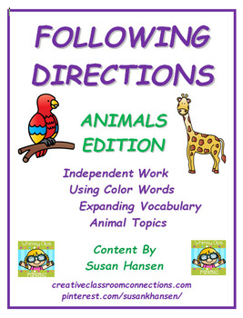 Following Directions: Animals Edition
