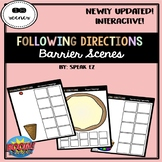 Interactive Following Directions Barrier Games with Boom Cards