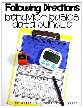 Following Directions- Behavior Basics Data Bundle