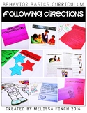 Following Directions- Behavior Basics Program for Special Education