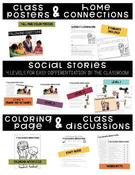 Following Directions- Behavior Basics Program for Special Education