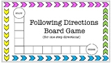 Following Directions Board Game