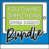 Following Directions Boom Card Bundle Distance Learning Sp